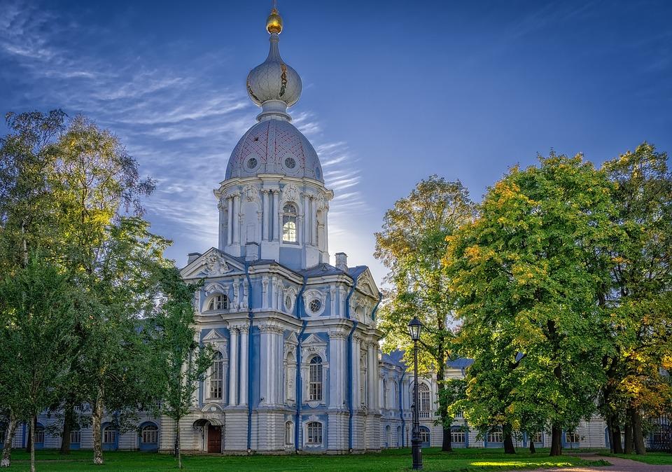 修道院 教会 サンクトペテルブルク アーキテクチャ 正教会 建物 歴史的です 宗教