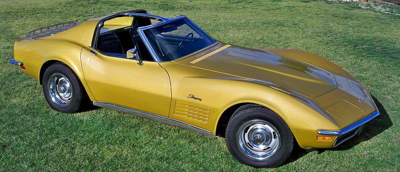 Corvette 1972, Stingray, Gold, Car