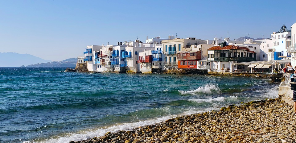 This is Little Venice in Mykonos, one of the most photographed places on the island.