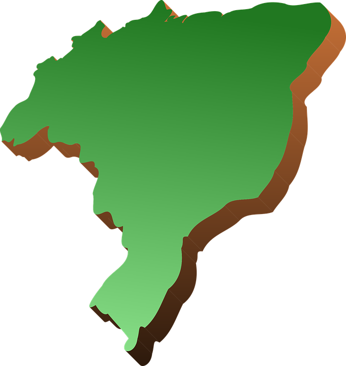 Map Of Brazil Green - Free vector graphic on Pixabay