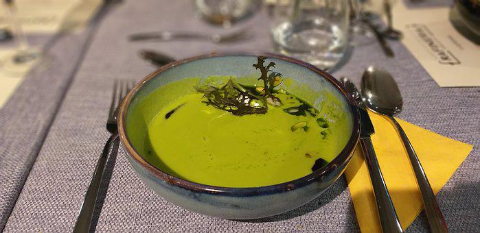 Soup, Green, Eating, Restaurant, Menu