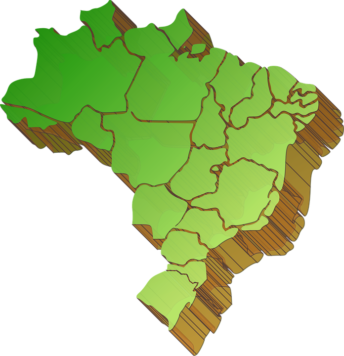 Map Of Brazil Division States - Free vector graphic on Pixabay