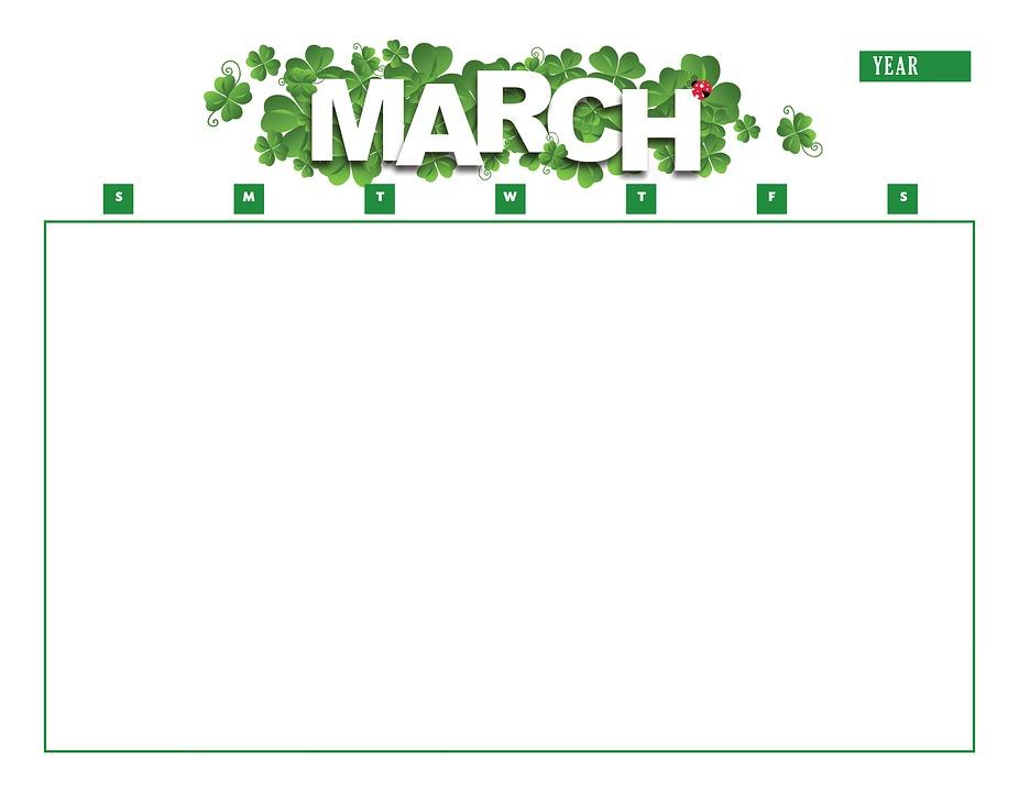 Marzo Calendario.Calendario Marzo Anno Immagini Gratis Su Pixabay