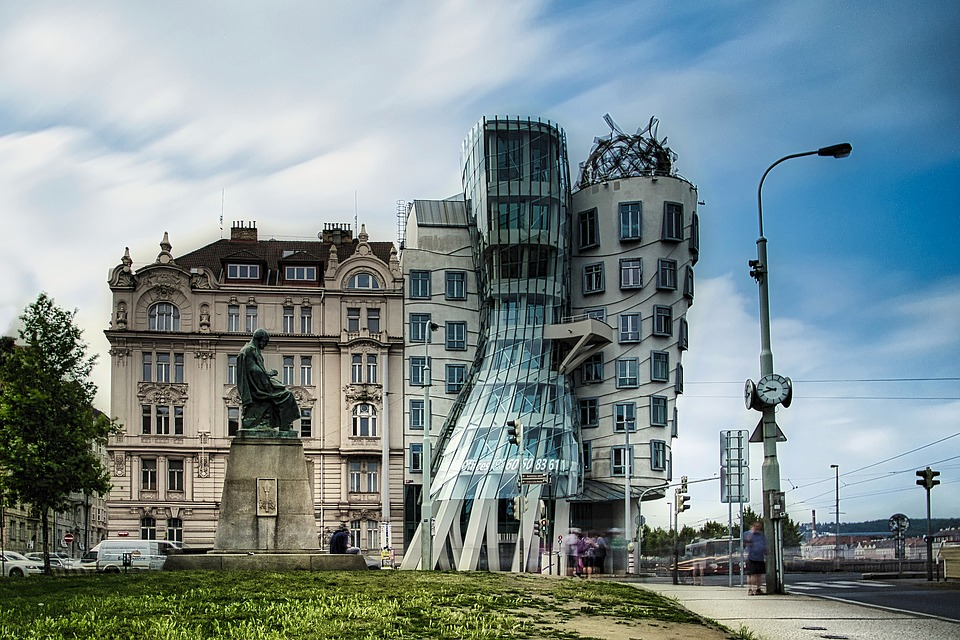 Dancing House, Prague, Architecture, Building, House