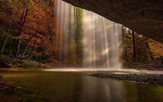 Φύση, Φθινόπωρο, Καταρράκτη, Δάσος