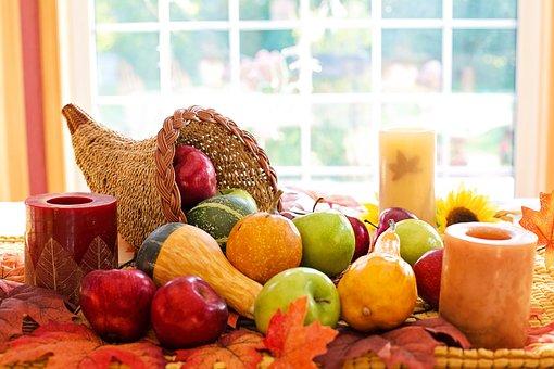 Díkůvzdání, Roh Hojnosti, Ovoce, Podzim