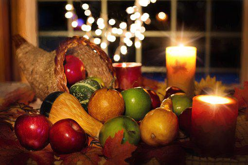 Thanksgiving, Cornucopia, Fruit, Autumn