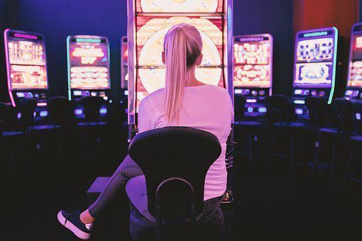 Casino, Adult, Woman, Young, Bet