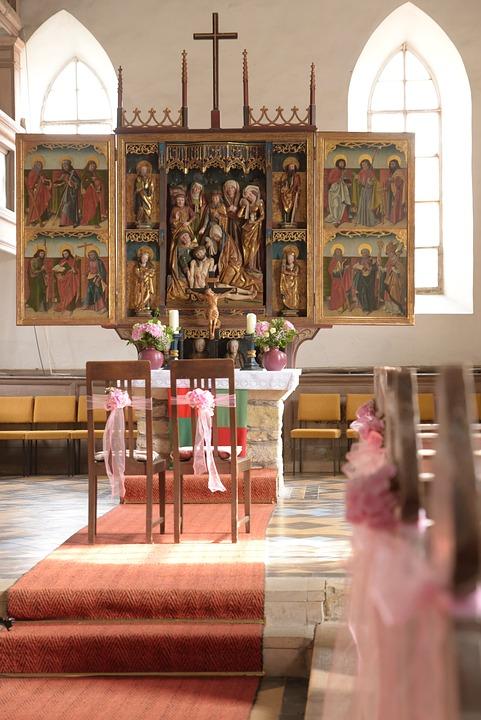 Kirche Altar Hochzeit Kostenloses Foto Auf Pixabay