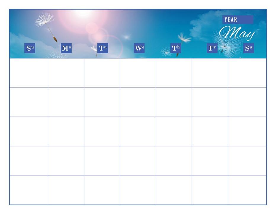 Kalender Template Mei Gambar Gratis Di Pixabay