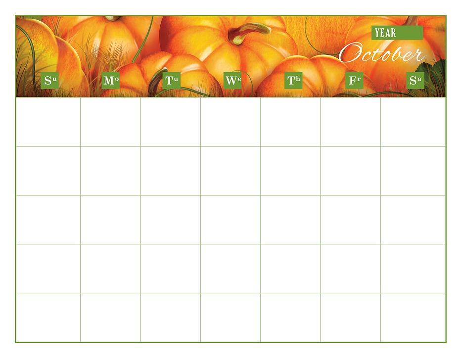 Calendario Plantilla De · Imagen gratis en Pixabay
