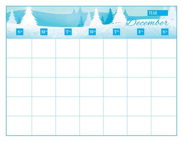 Днем, шаблоны календарь