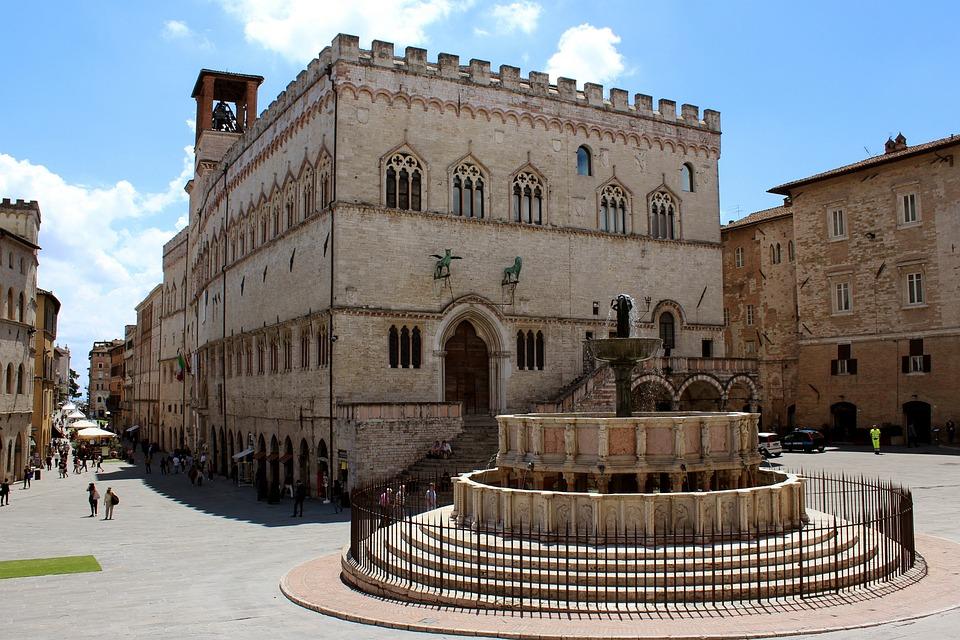 Umbria, Perugia, Palazzo, Dei, Priori, Fontana