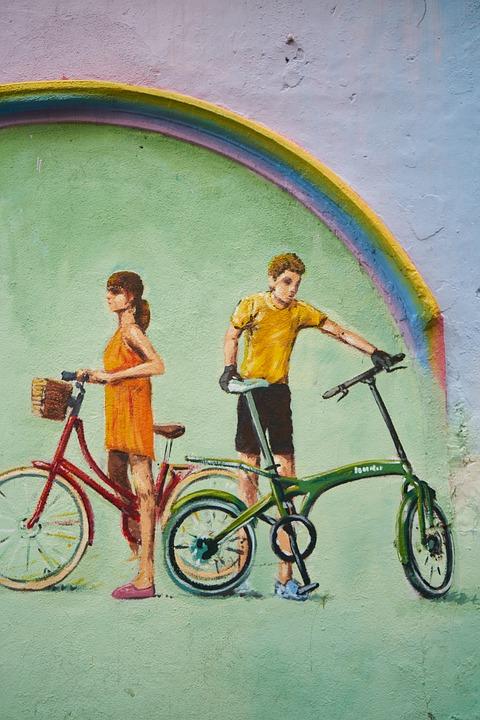 Graffiti Fahrrad Wand Kostenloses Foto Auf Pixabay