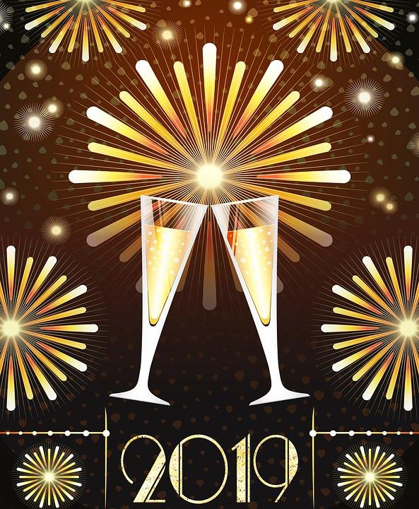 Nieuwjaar 2019 Gelukkig Gratis Afbeelding Op Pixabay
