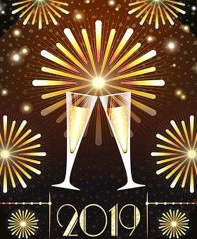 New Year, 2019, Happy New Year