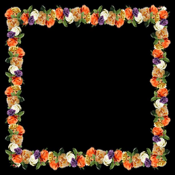 floral border frame free image on pixabay
