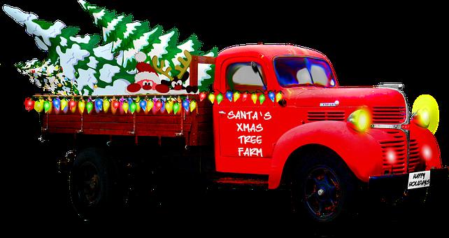 Christmas Truck, Pick Up, Christmas