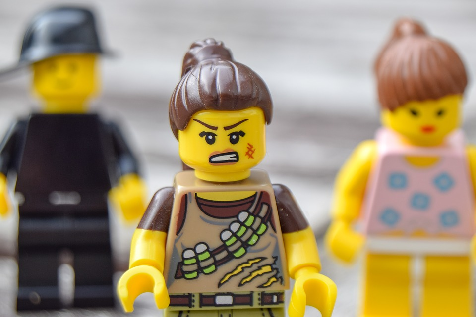 Lego, Angry, Anger, Emotions, Dangerous