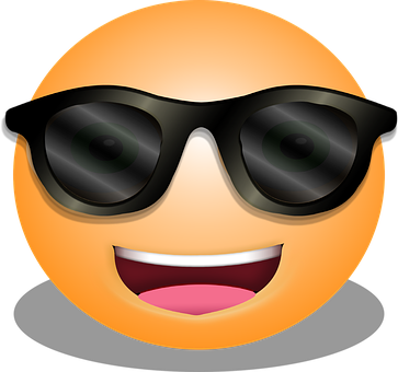 Graphic, Smiley, Emoticon, Cool
