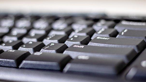 パソコン, コンピュータ, ラップトップ, 技術, オフィス, ノートブック