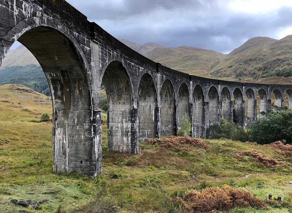 Bridge, Scotland, Architecture, Sky, Viaduct, Highlands