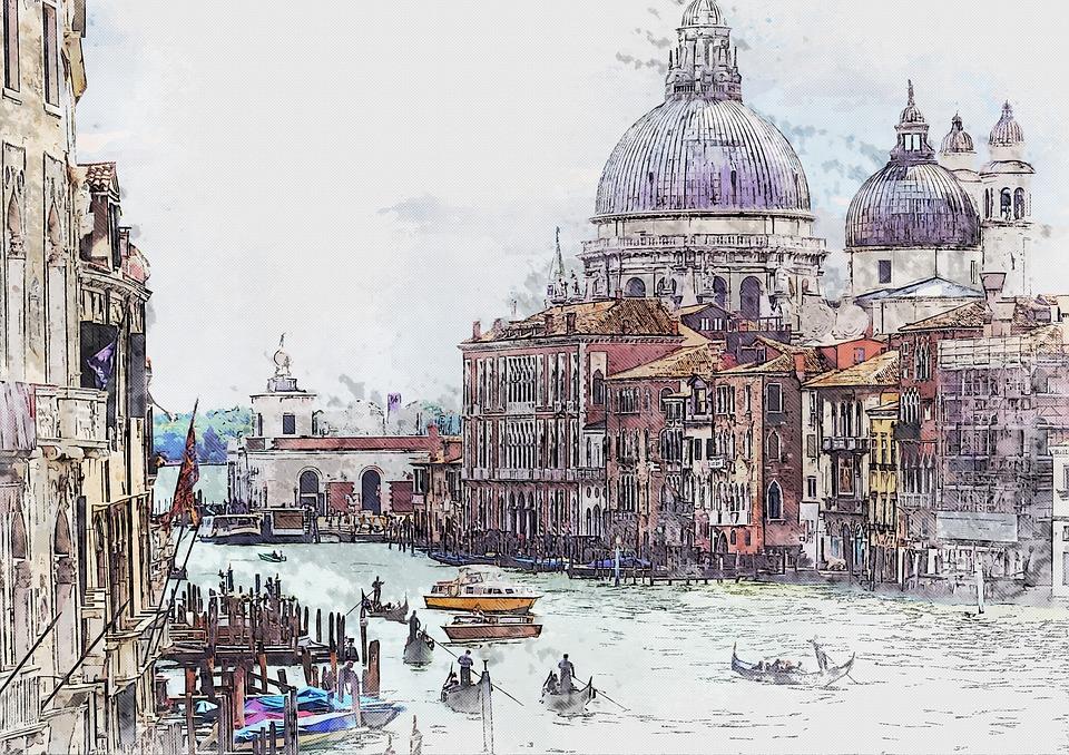 Venesia, Italia, Kanal, Tengara, Kota, Bangunan