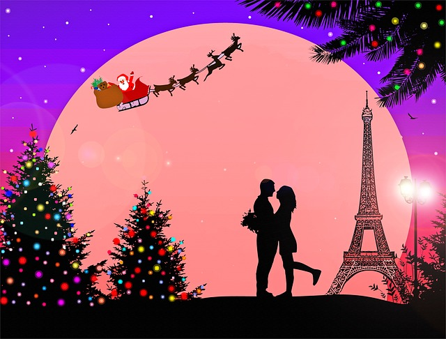 Christmas Paris France.Paris France Christmas Eiffel Free Image On Pixabay