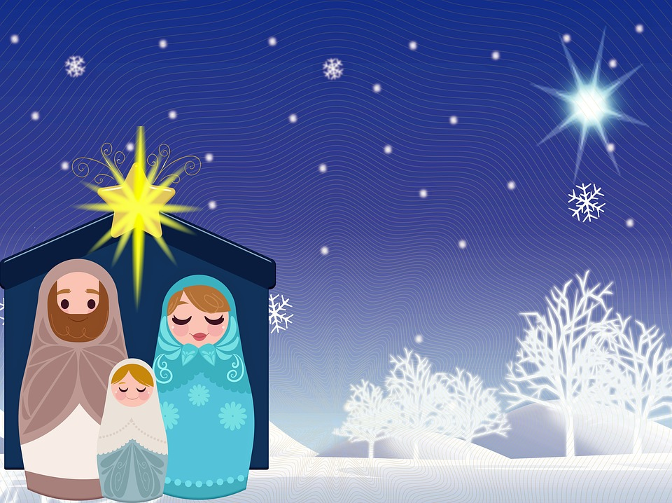 Christliche Bilder Weihnachten.Weihnachten Krippe Schnee Jesus Kostenloses Bild Auf Pixabay