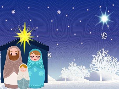 Pesebre De Navidad, Snow, Jesús