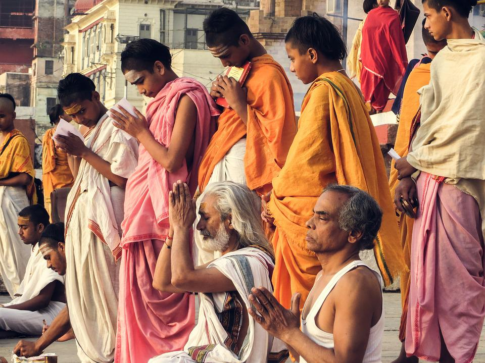The Brahmanas, Varanasi, India, Pray, Kids, Teens