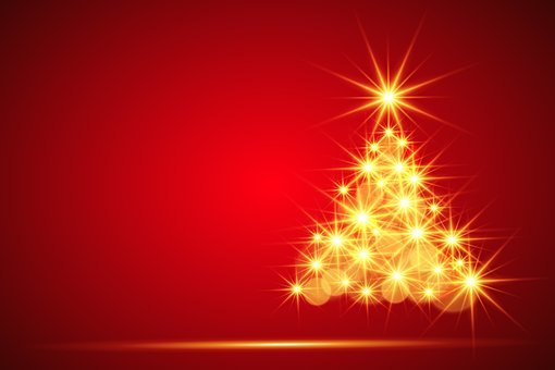 christmas christmas tree background - Red Christmas Background
