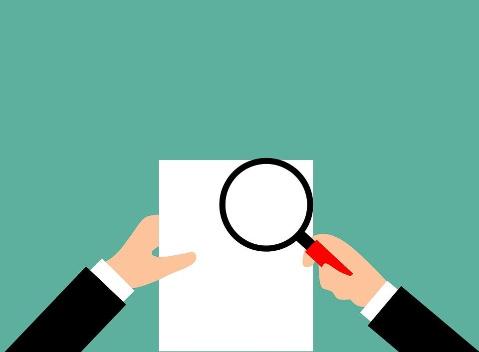 監査, レポート, 検証, 拡大鏡, 監査人, 金融, コンセプト, ビジネス, 税, 紙, ファイル