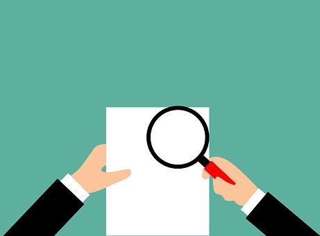 監査, レポート, 検証, 拡大鏡, 監査人, 金融, コンセプト, ビジネス