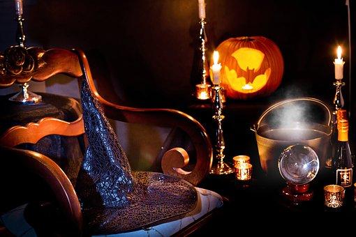 Halloween, Häxor Hat, Häxa Hatt, Spooky