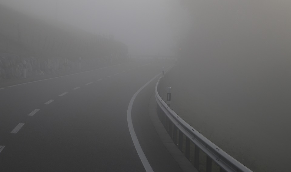 The Fog, Dawn, Highway, Nature, Unknown, Shoulder