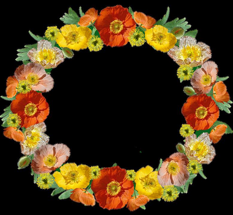 Poppies Flowers Wreath Free Photo On Pixabay