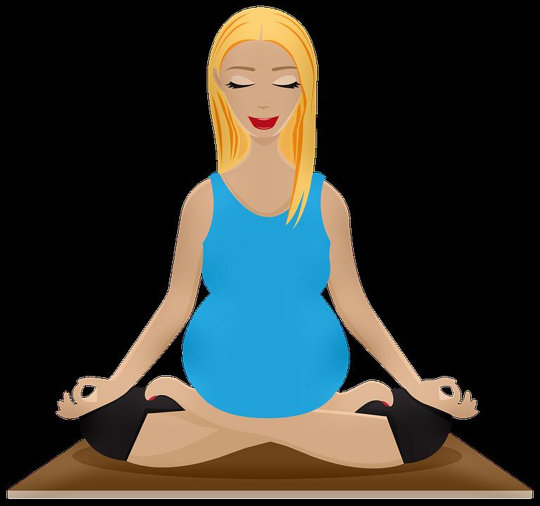 Zwangere Vrouw Yoga, Tweelingen, Peek-A-Boo Tweeling