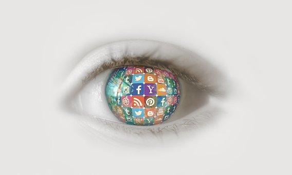 Social Media, Eye, Instagram, Facebook