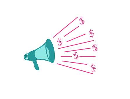 Vibrations coming out of a megaphone with dollar signs at the end to signify Affiliate online marketing tutorial for dummies – Do they really exist?