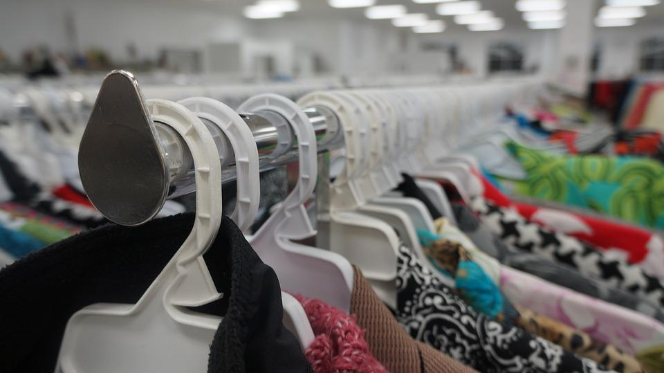 Clothing, Thrift Store, Shopping, Garments, Hangers