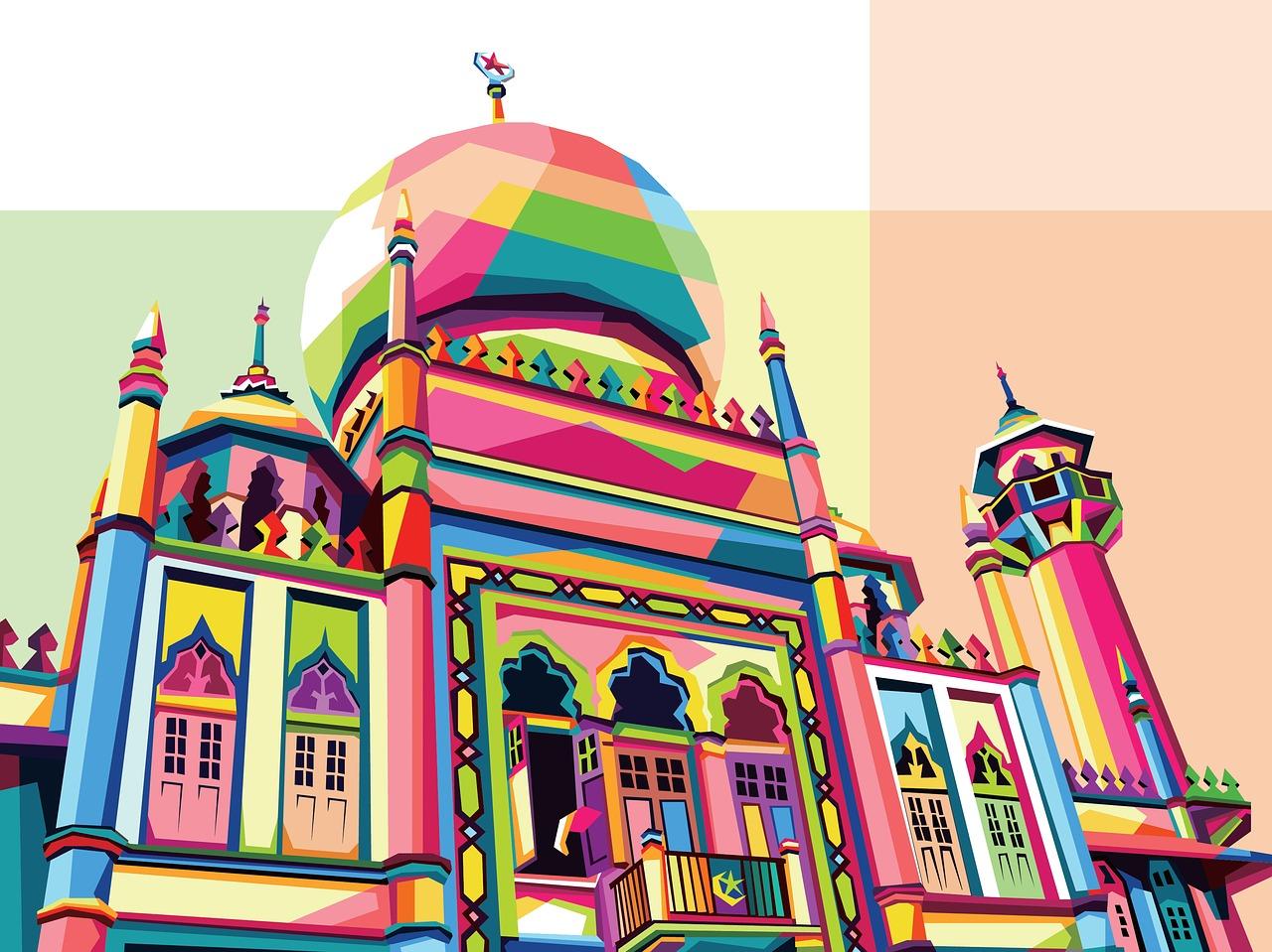 Masjid Sketsa Pop Gambar Gratis Di Pixabay
