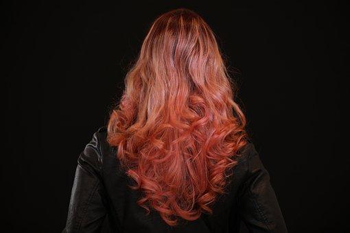 モデル, 髪サロン, セクシーです, 髪の毛, 美容, 女の子, 肖像画, 女性