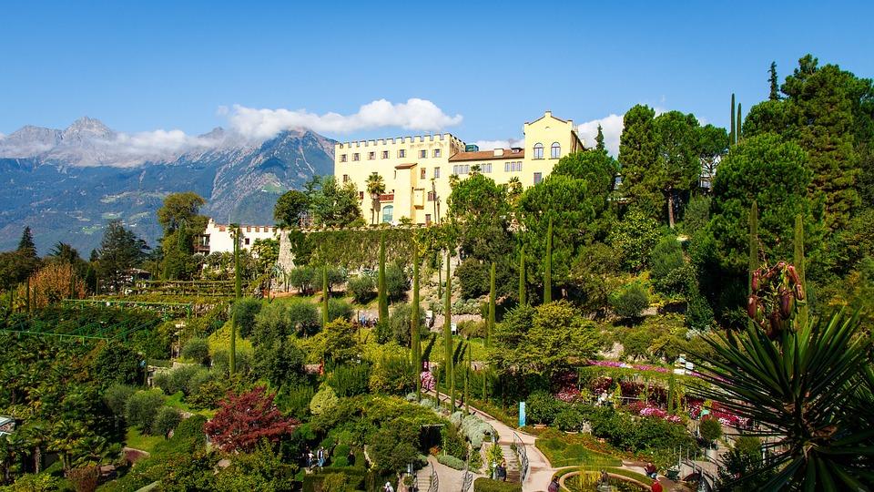 Schloss Trauttmansdorff, Meran, Südtirol, Ausflug
