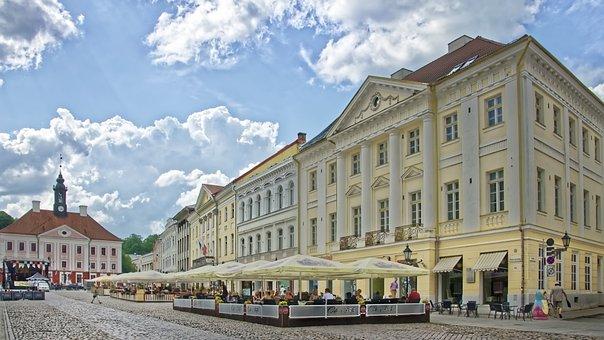 Estland, Tartu, Rathausplatz, Altstadt