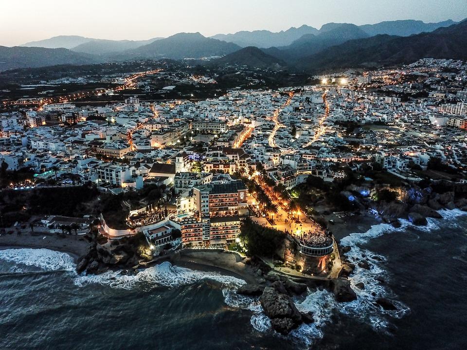Сумерки, Нерха, Малага, Андалусия, Испания