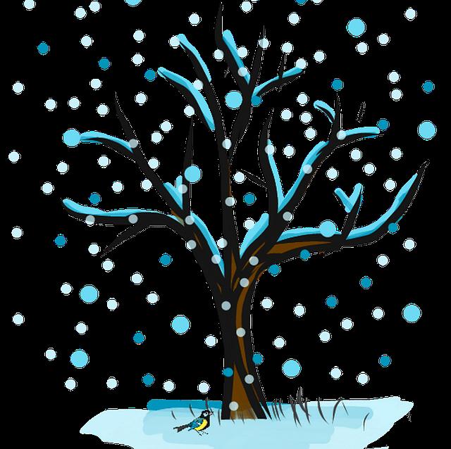 зимнее дерево картинки для оформления таком наряде
