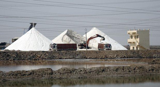 Salt, Production, Harvesting, Loading
