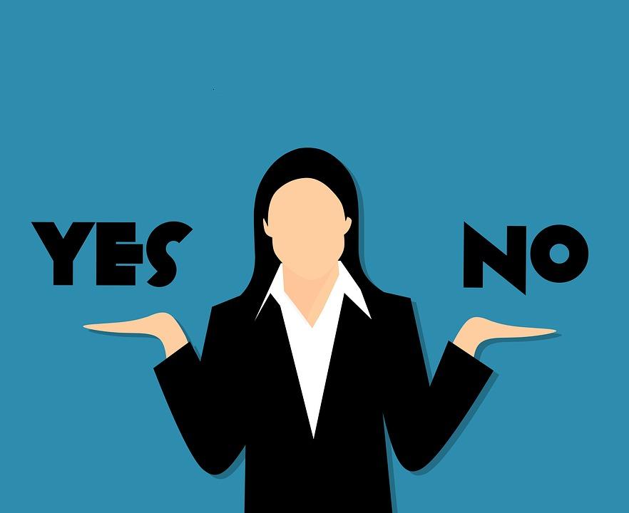 疑問, はい, なし, ビジネス, 間違い, 漫画, 修正, ワード, 記号, 概念, 思考, 投票