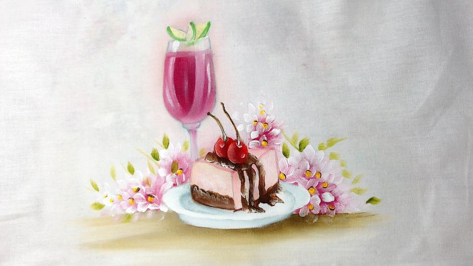 Kumaş Boyama Kek Dondurma Pixabayde ücretsiz Resim